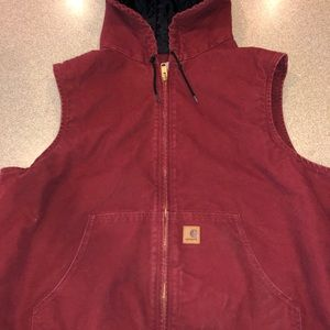 2x Carhartt Maroon Sleeveless Vest a